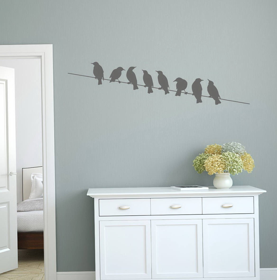 Diy Birds On A Wire Wall Art