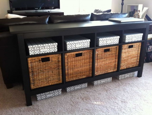 Diy Sofa Table With Storage