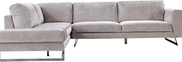 Elliot Fabric Microfiber Sectional Sofa