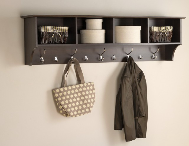 Entryway Wall Shelf With Hooks