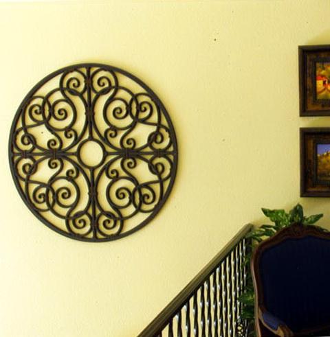 Faux Wrought Iron Wall Art