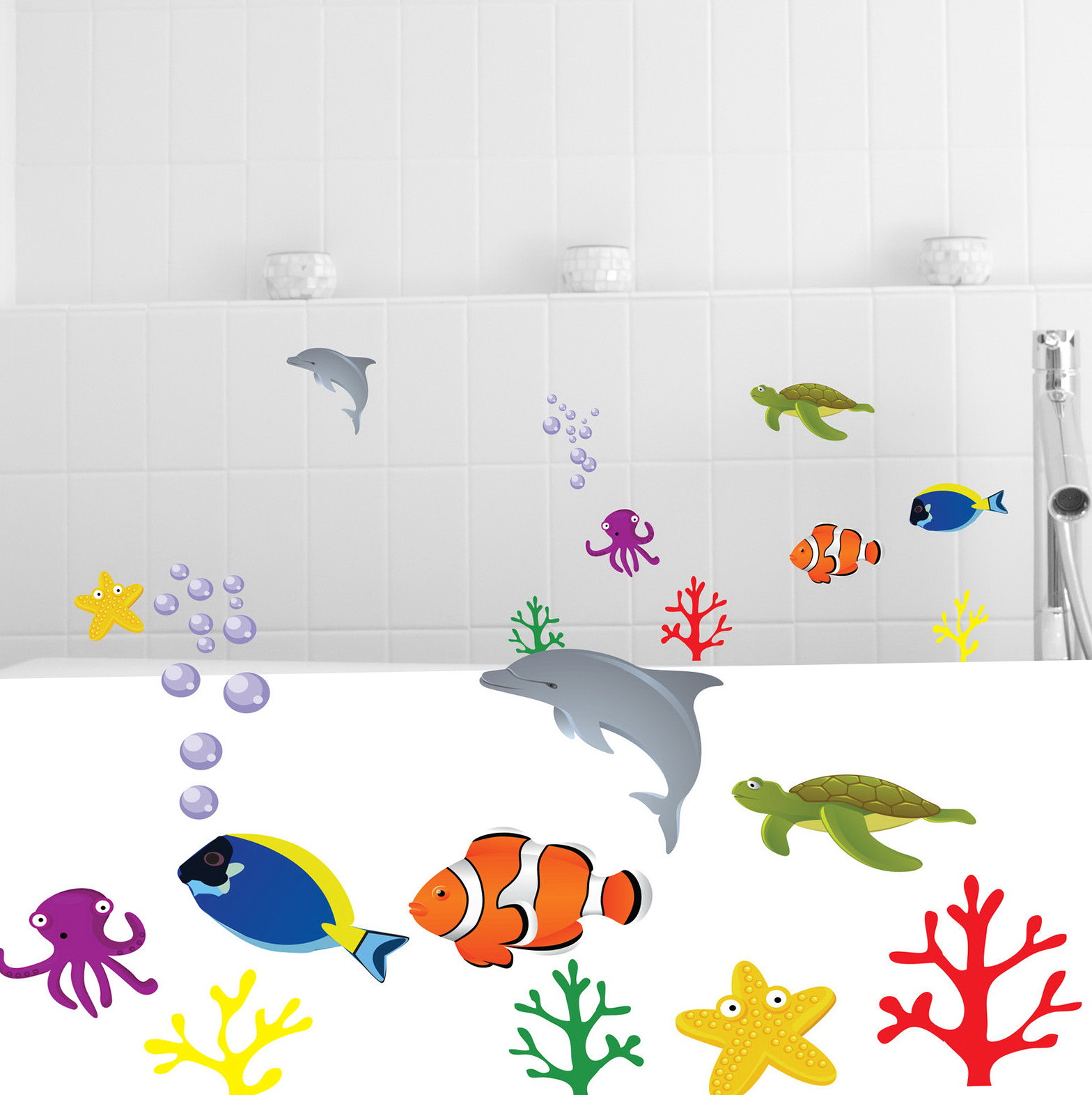 Fish Wall Art For Kids' Bathroom