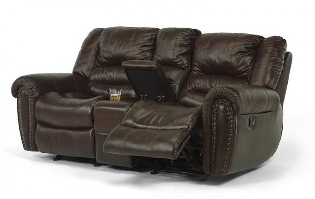Flexsteel Leather Sofa Recliner