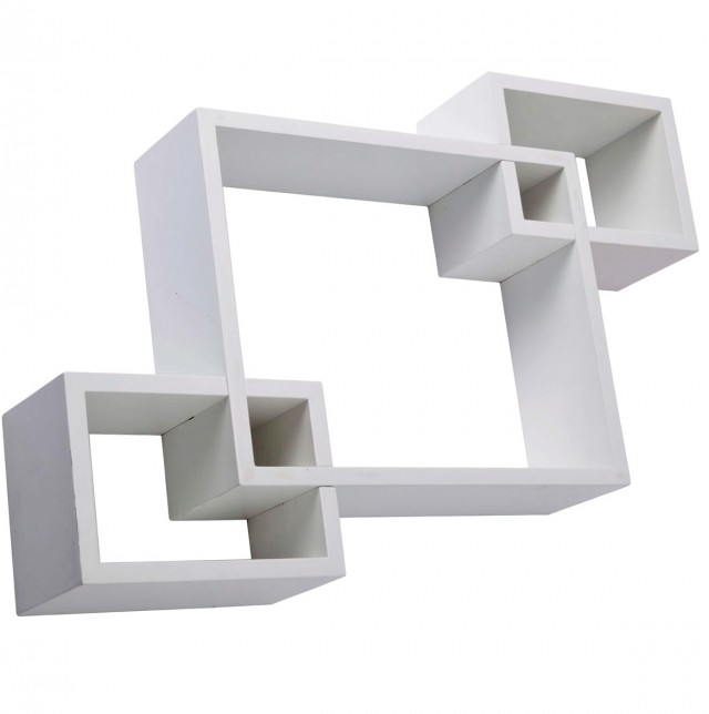 Floating Wall Shelf White
