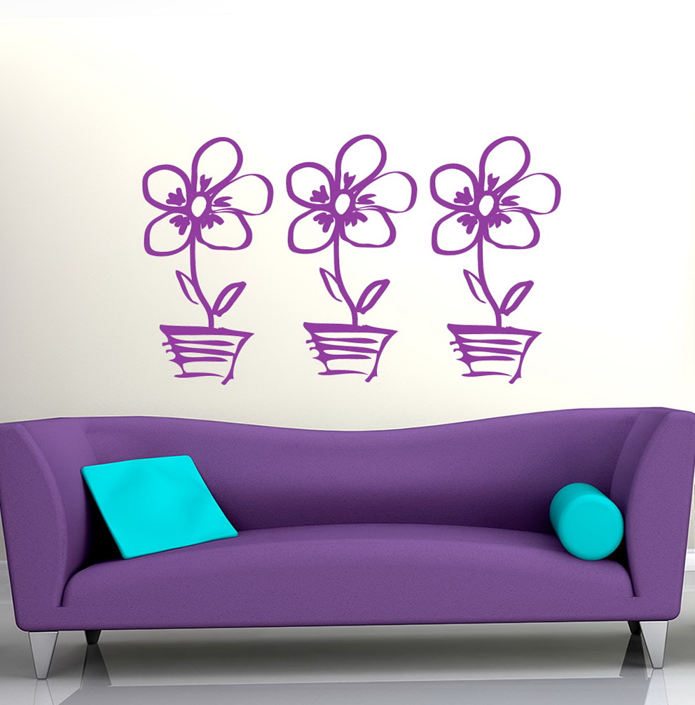 Floral Wall Art Stickers