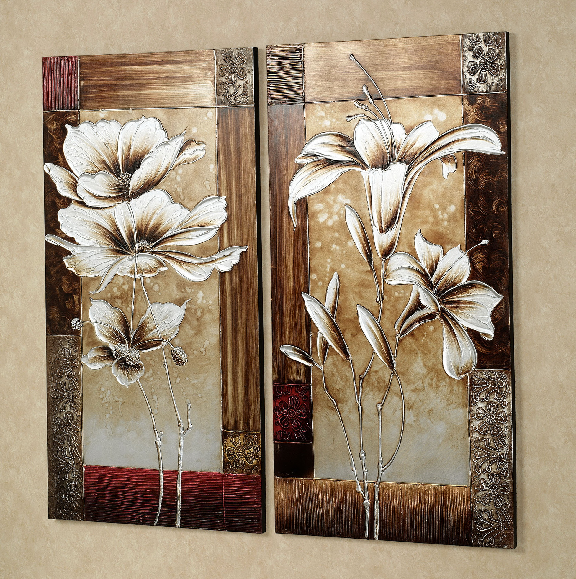 Flower Wall Art Canvas