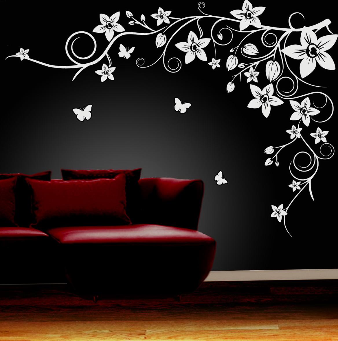 Flower Wall Art Decals