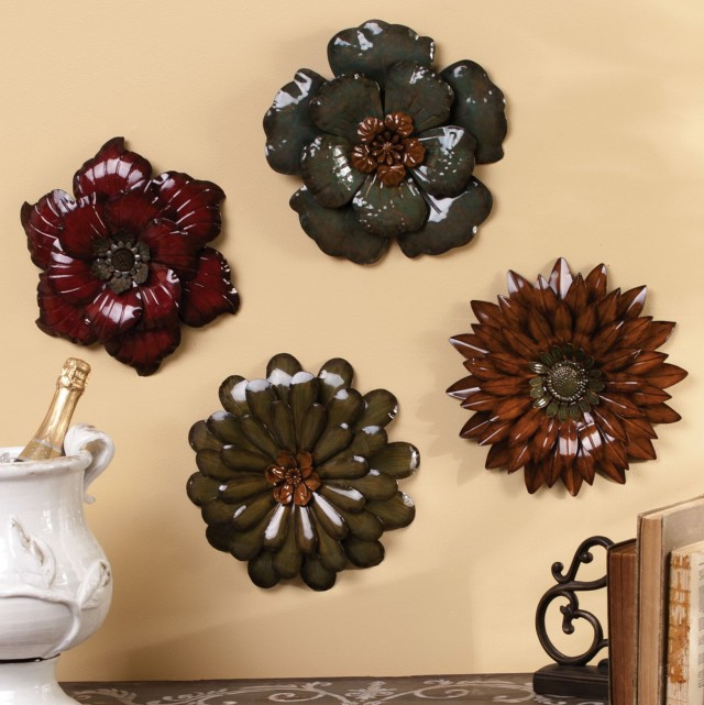 Flower Wall Art Metal