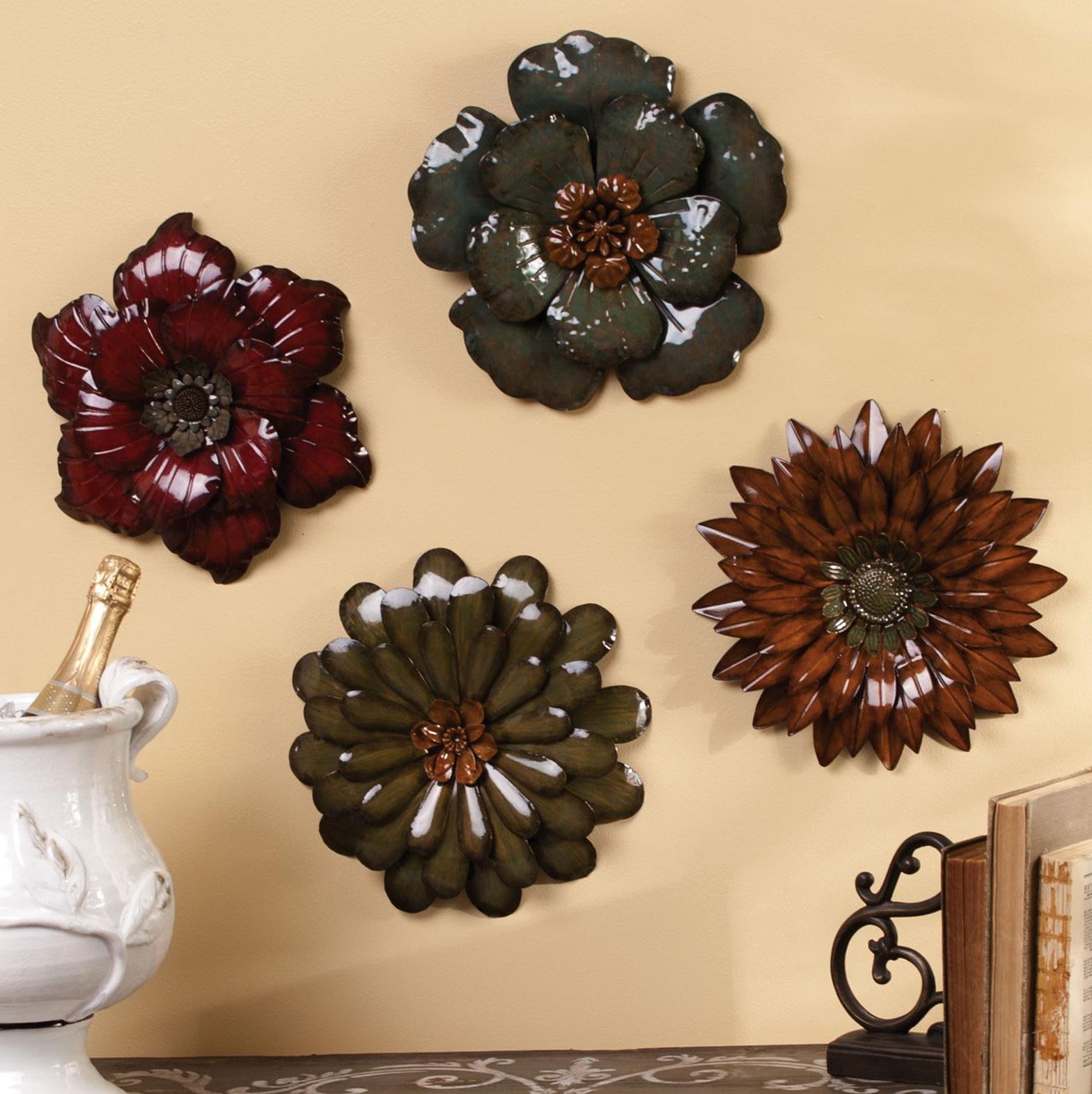 Flower Wall Art Metal