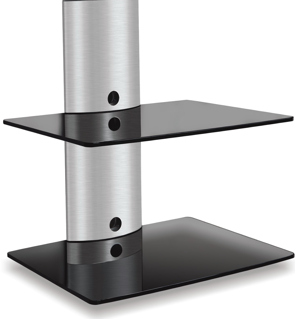 Glass Wall Mount Dvd Shelf