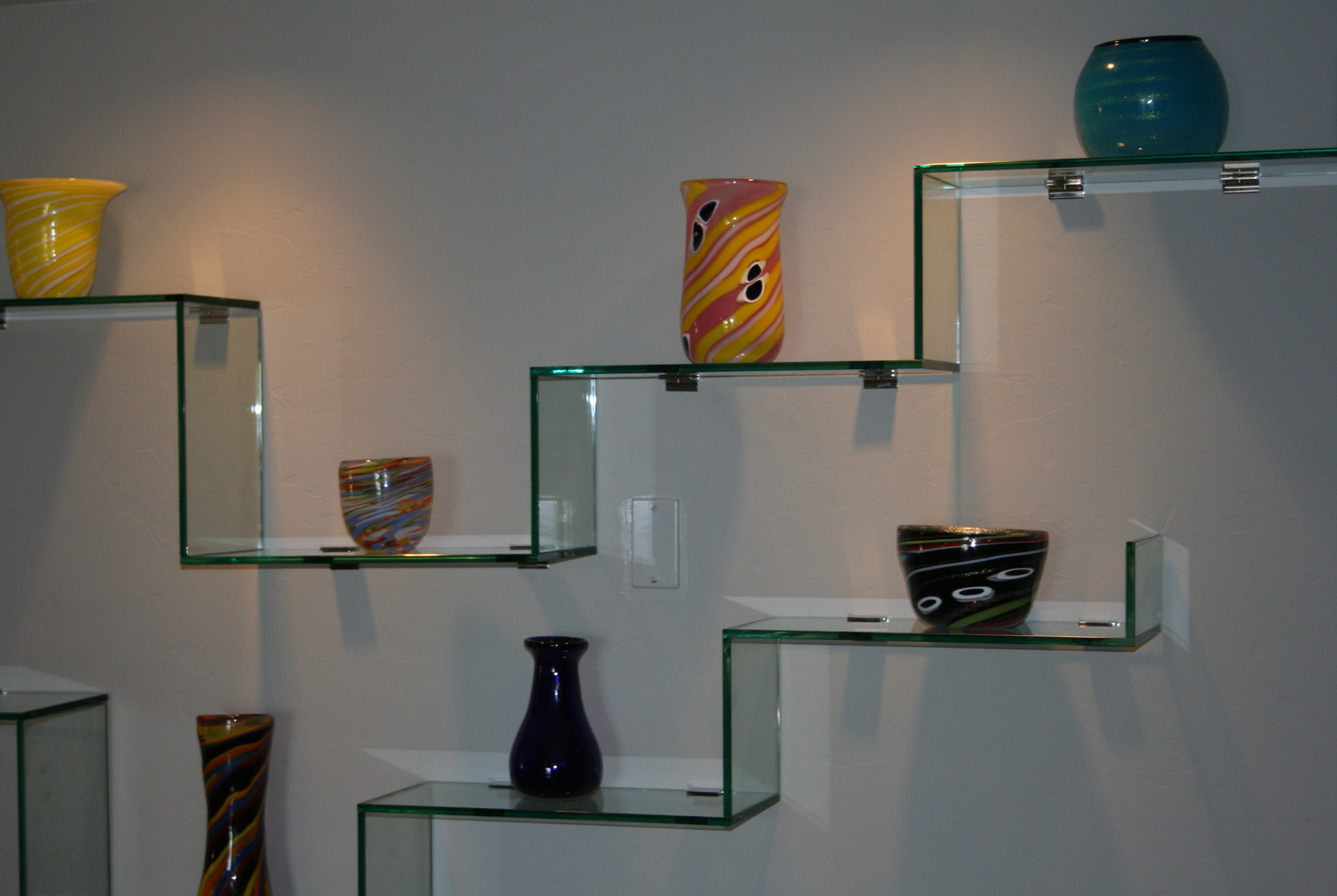 Glass Wall Shelf Designs