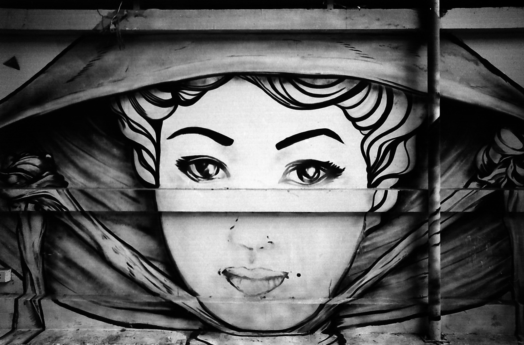 Graffiti Wall Art Black And White