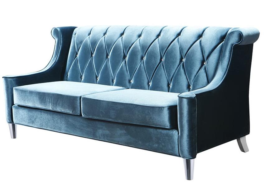 Ikea Blue Velvet Sofa