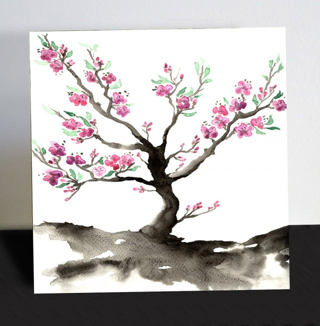 Japanese Cherry Blossom Wall Art