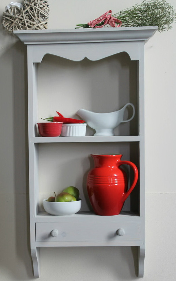 Kitchen Wall Shelf With Drawers