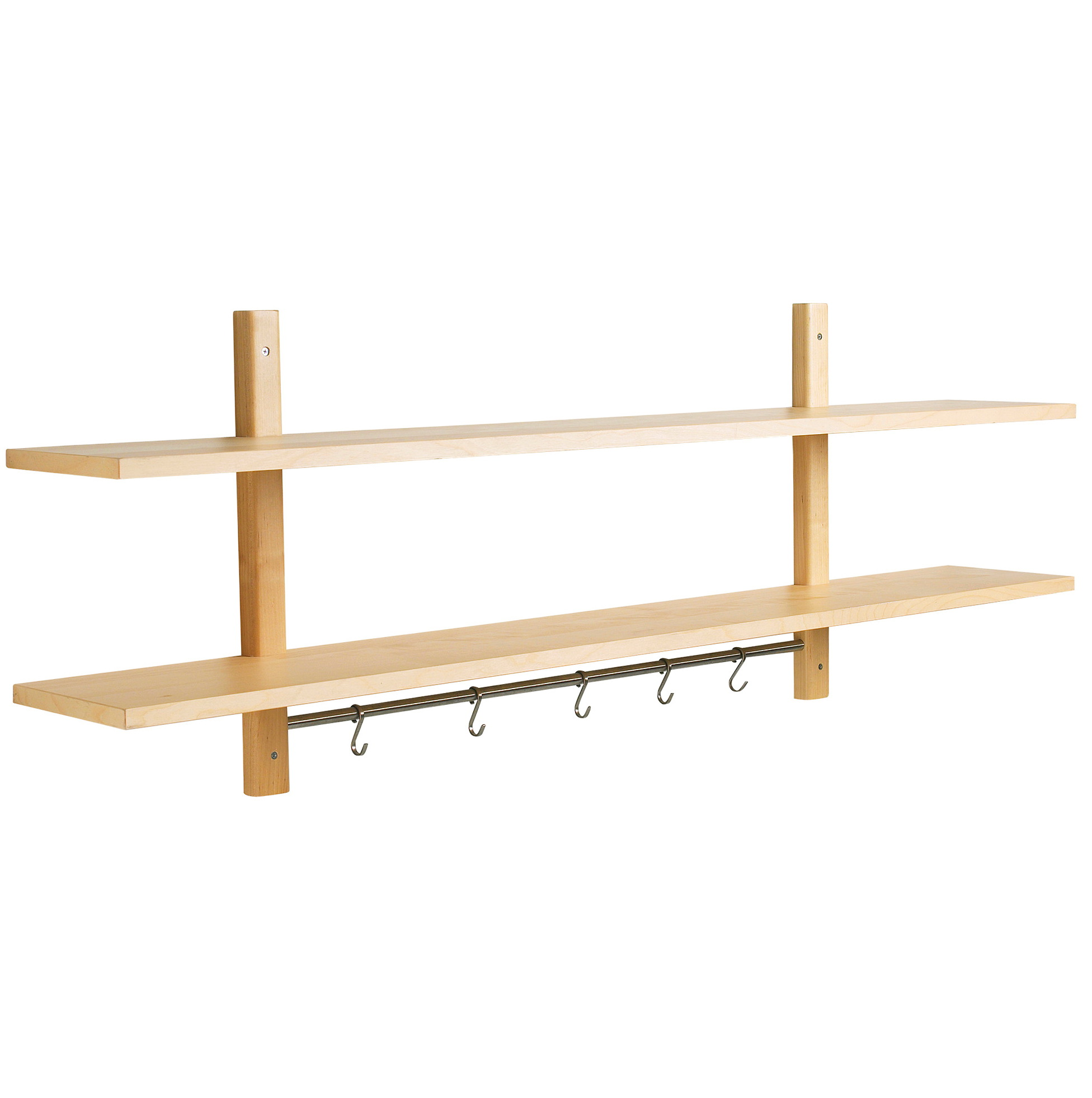 Kitchen Wall Shelf With Hooks