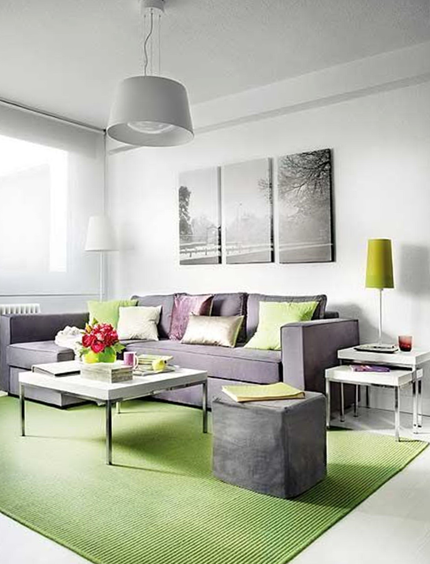 L Shaped Sofa In Small Living Room