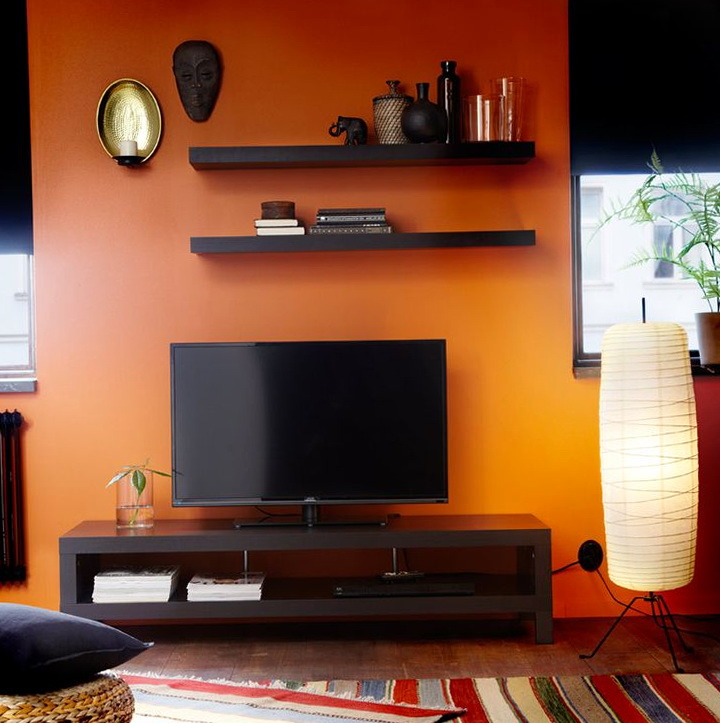 Lack Wall Shelf Black Brown