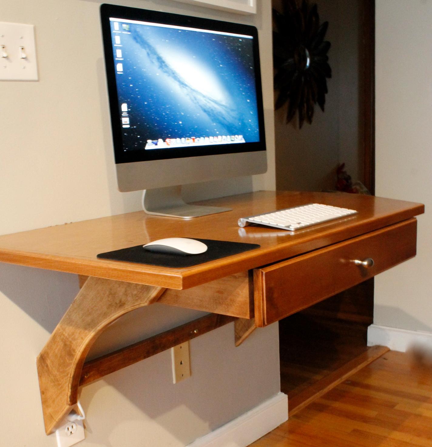 Laptop Shelf Wall Mounted