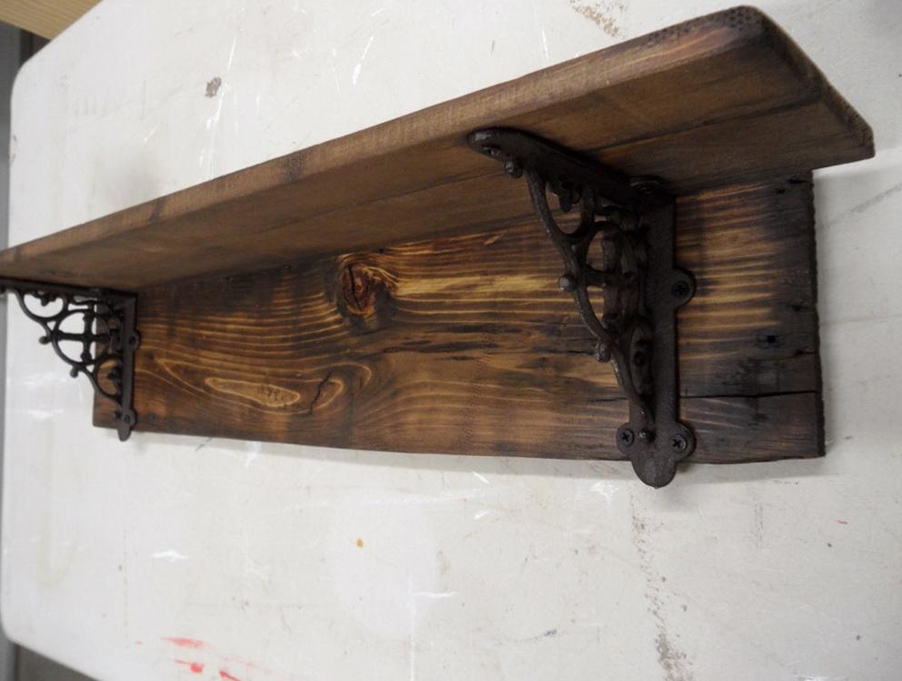 Large Rustic Wall Shelf