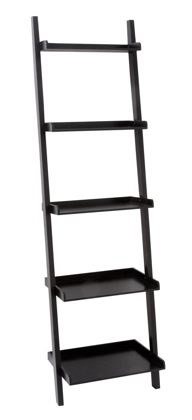 Leaning Wall Shelf Black