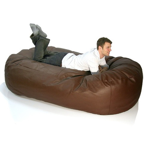 Leather Bean Bag Sofa