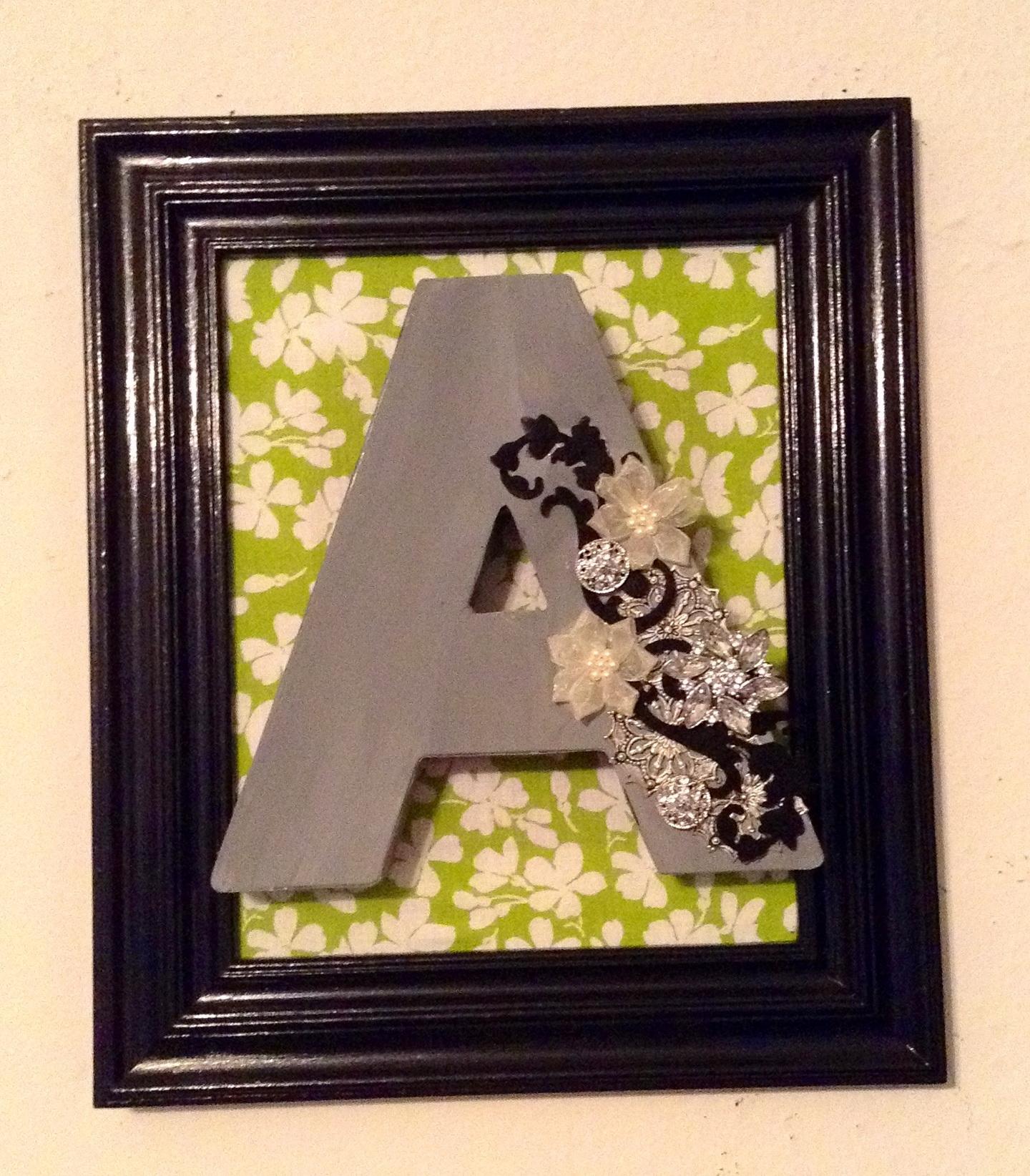 Letter Wall Art Diy