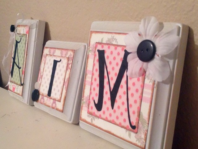 Letter Wall Art Ideas