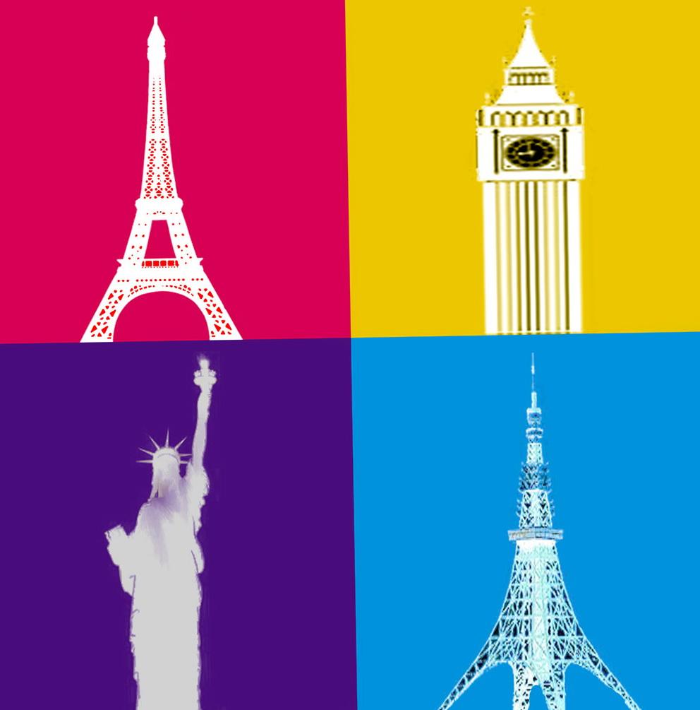 London Paris New York Wall Art