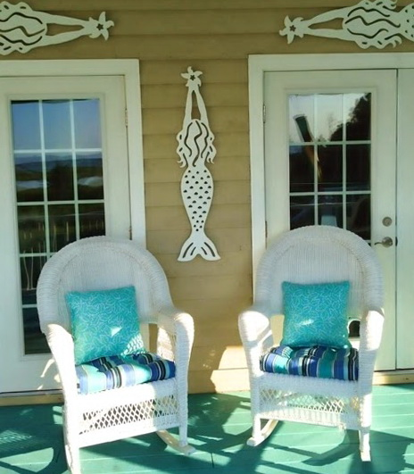 Mermaid Wall Art Outdoor