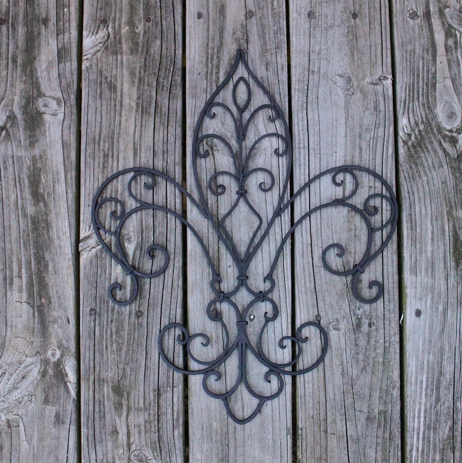 Metal Fleur De Lis Wall Art