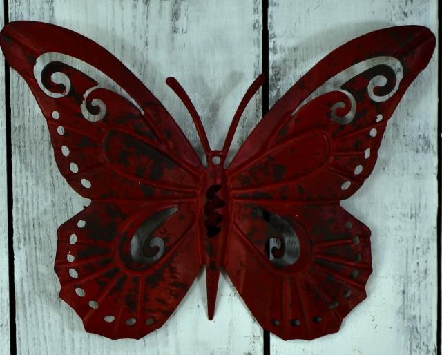Metal Outdoor Wall Art Butterfly