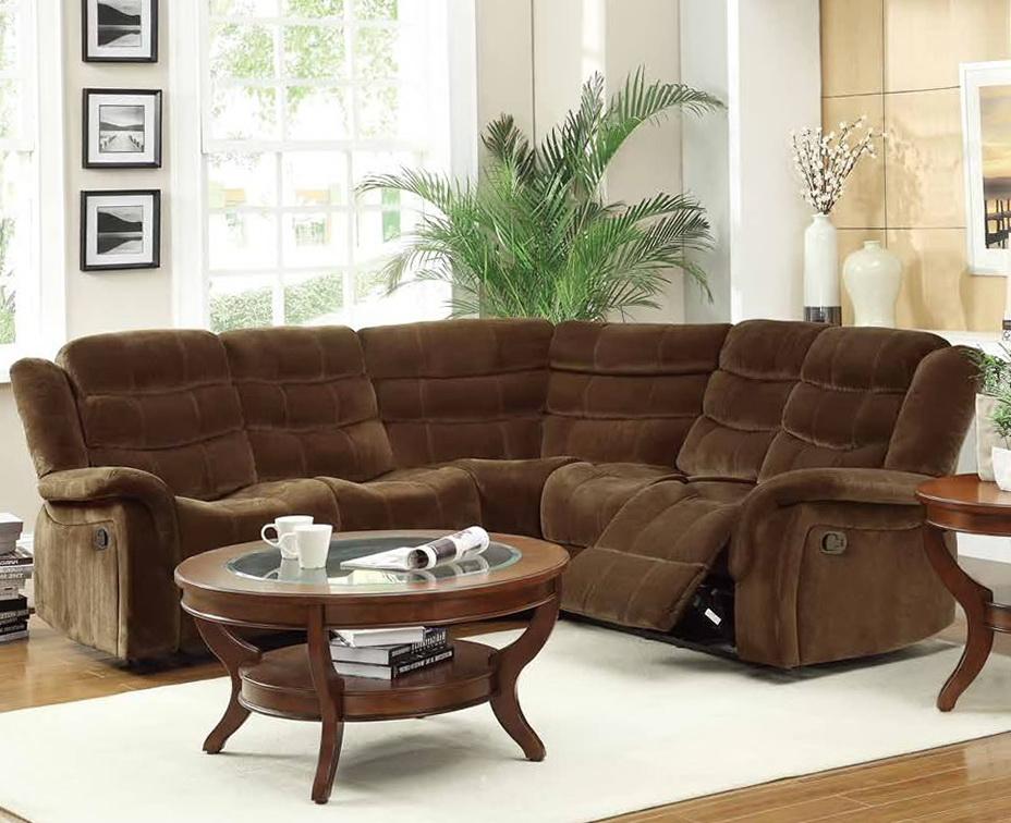Microfiber Reclining Sectional Sofa