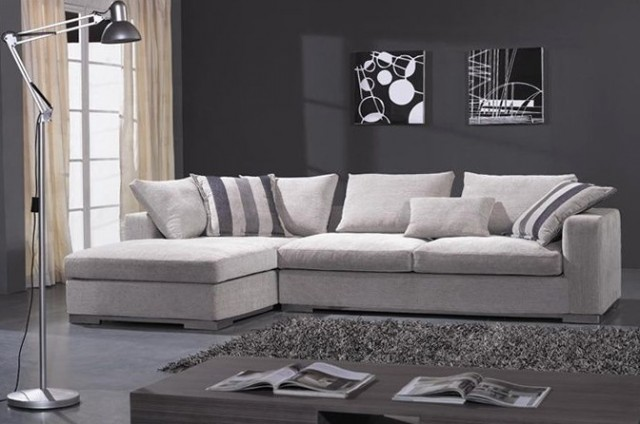 Microfiber Sectional Sofa With Chaise