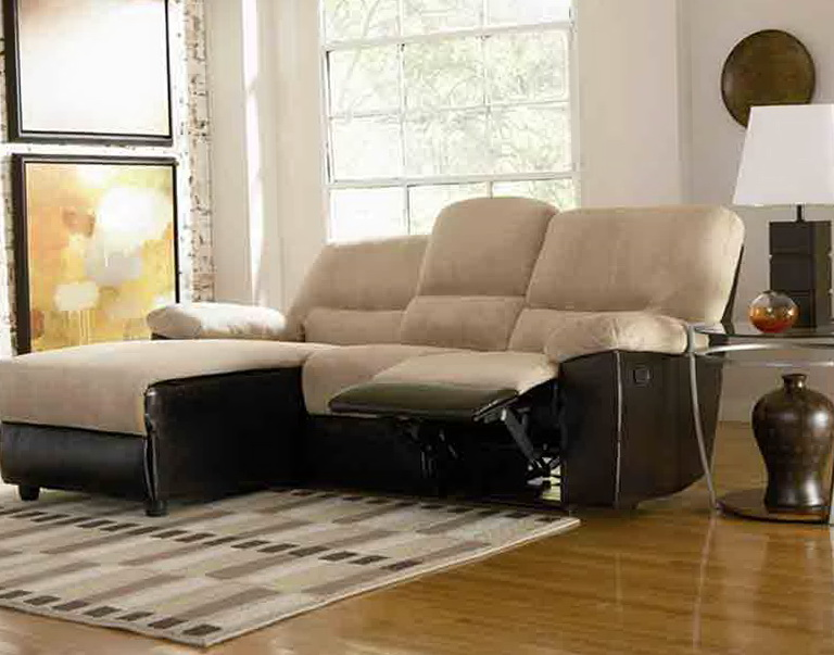 Microfiber Sectional Sofa With Recliner And Chaise