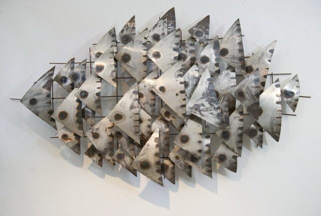Mid Century Modern Metal Wall Art