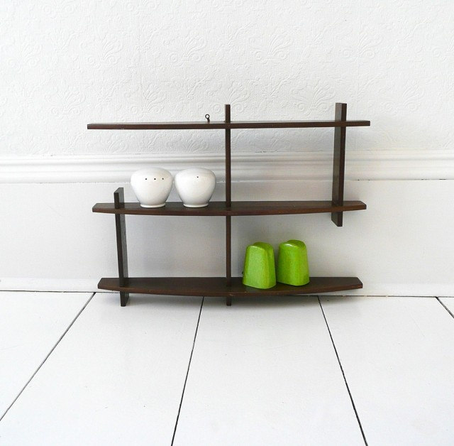 Mid Century Modern Wall Shelf
