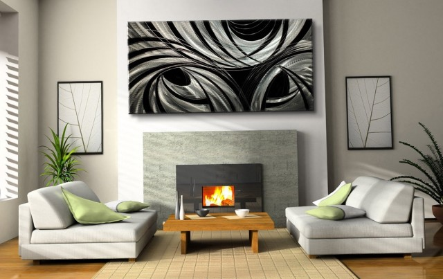 Modern Abstract Metal Wall Art