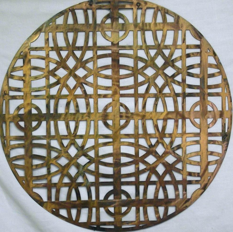 Monogram Wall Art Metal