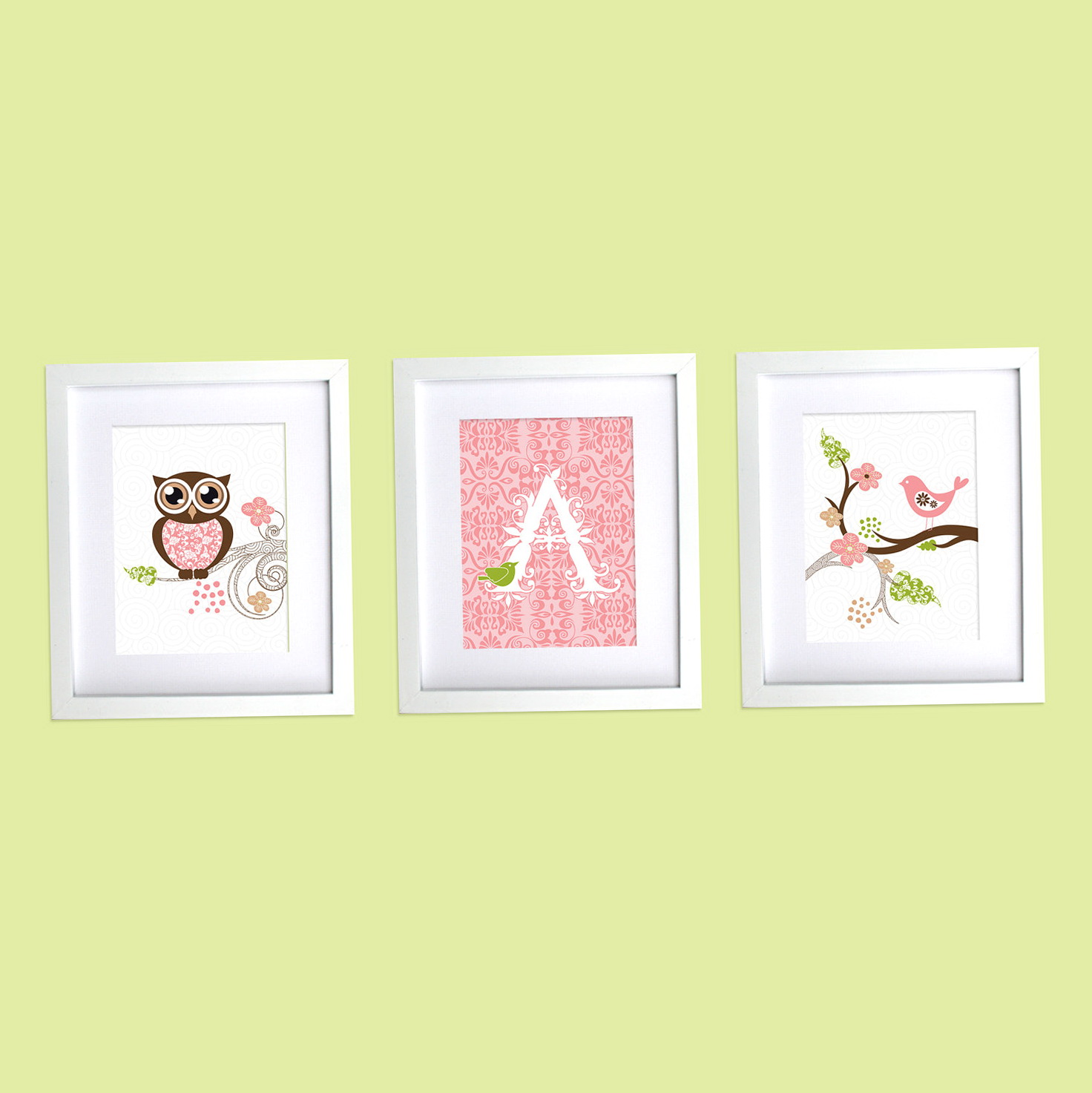 Nursery Monogram Wall Art