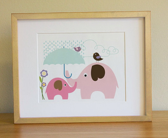 Nursery Wall Art Elephant