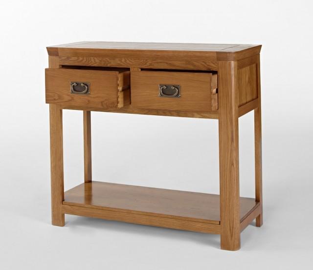 Oak Sofa Table With Storage