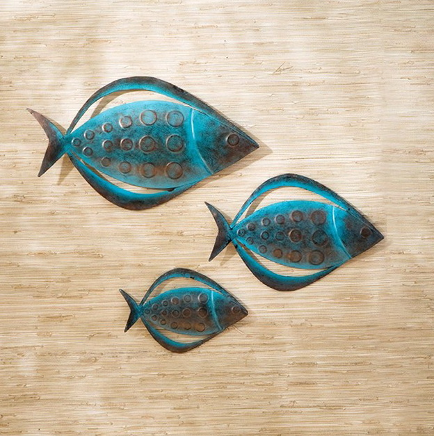 Outdoor Metal Wall Art Fish