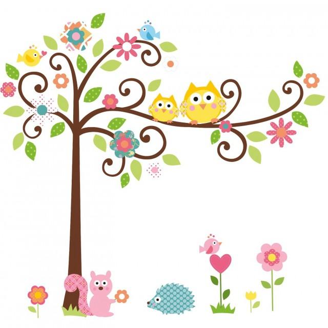 Owl Wall Art Stickers