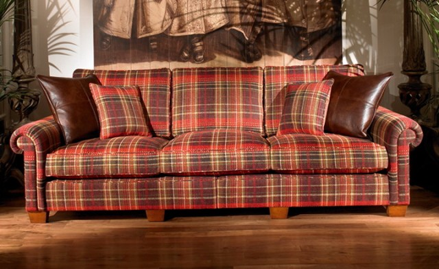 Plaid Sofas And Loveseats