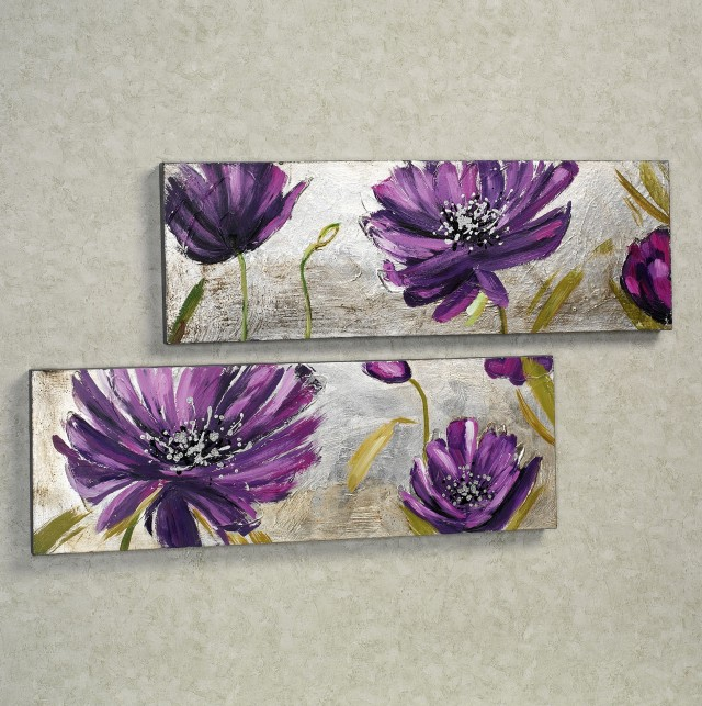 Purple Floral Wall Art