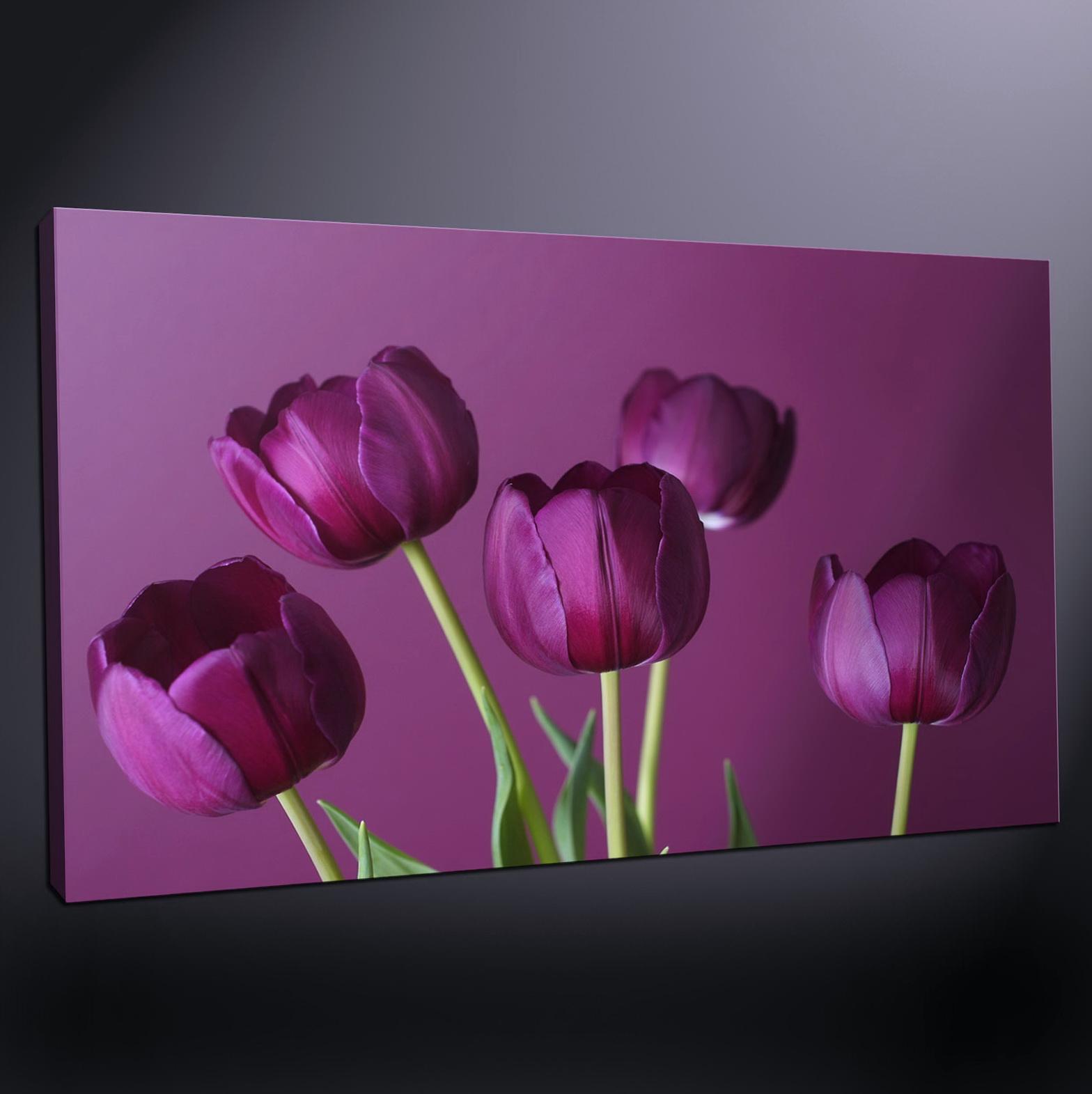 Purple Wall Art Canvas