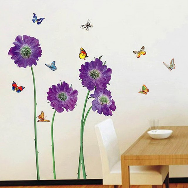 Purple Wall Art Stickers