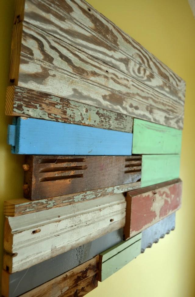 Reclaimed Wood Wall Art Diy