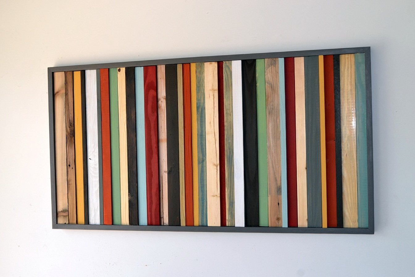 Reclaimed Wood Wall Art Etsy
